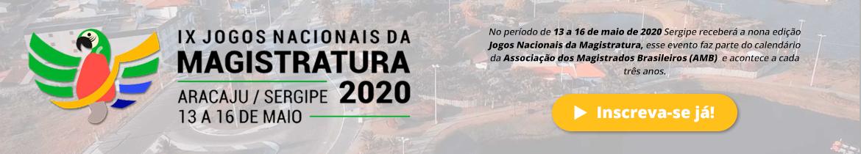 Banner Inscrições Jogos Magistratura 2020