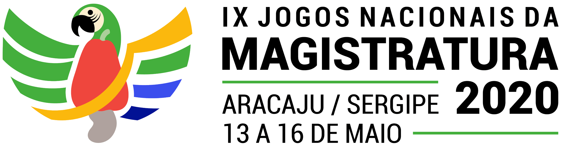 Marca IX jogos nacionais da magistratura aracaju/sergipe 2020